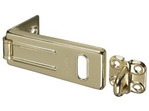 Wrought Steel Hasp Brass Finish 89mm