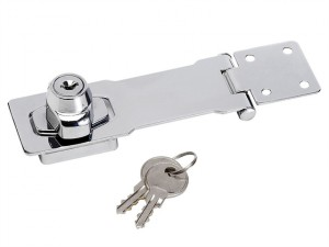 Chrome Plated Steel Locking Hasp 117mm