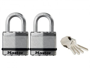 Excell™ Laminated Steel 45mm Padlock - 24mm Shackle - Keyed Alike x 2