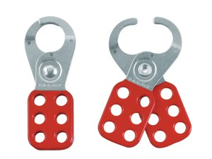 Lockout Standard Hasp 25mm Steel Red