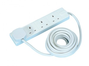 Extension Lead 240 Volt 4 Gang 13 Amp White 5 Metre