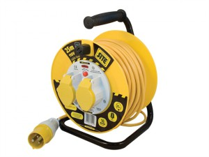 Cable Reel 25 Metre 16A 110 Volt Thermal Cut-Out