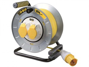 PRO XT Metal Cable Reel 30 Metre 16A 110 Volt Thermal Cut-Out