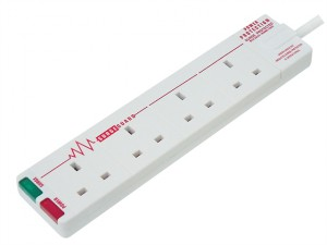 Extension Lead 240 Volt Surge Protected 4 Gang 13 Amp 2 Metre