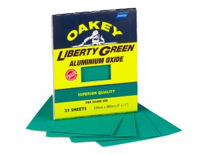 Multi Purpose Green Aluminium Oxide Sheets 230 x 280mm Assorted (4)