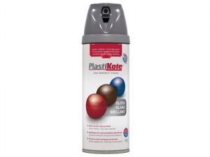Twist & Spray Gloss Medium Grey 400ml