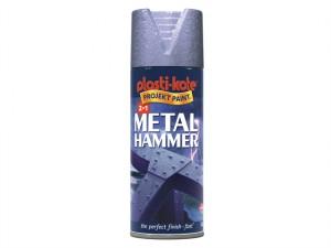 Metal Paint Hammer Spray Silver 400ml
