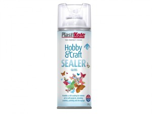 Hobby & Craft Sealer Spray Clear Gloss 400ml