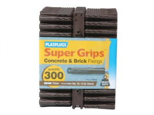 BP 539 Solid Wall Super Grips™ Fixings Brown (300)
