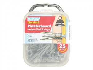 CF 111 Standard Plasterboard Fixings Pack of 25