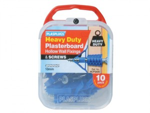 HCFS 409 Heavy-Duty Plasterboard Fixings & Screws Pack of 10