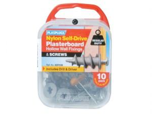SDF 235 Nylon Self-Drill Fixings & Screws Pack of 5
