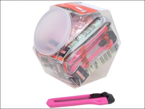Neon Snap-Off Knife 18mm + 1 Blade Candy Jar 25 Knives