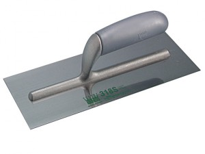 R318S Plasterers Finishing Trowel Stainless Steel Grey Handle 11in x 4.3/4in