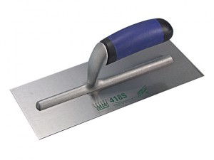 R418S Plasterers Finishing Trowel Stainless Steel Easi Grip 11in x 4.3/4in