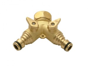 Brass Dual Tap Connector 19mm (3/4in)