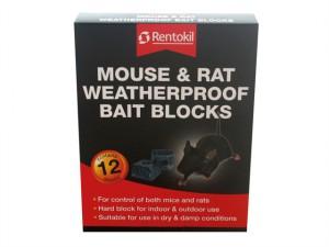 Mouse & Rat Weatherproof Bait Blocks (12)