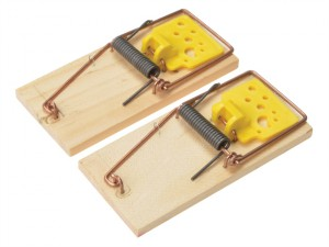 Wooden Mouse Traps (Twin Pack)