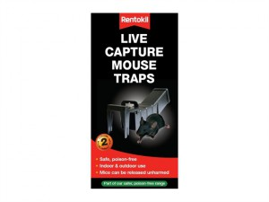 Live Capture Mouse Traps Twin Pack