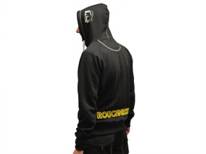 Black & Grey Zip Hooded Sweatshirt - M (39-41in)