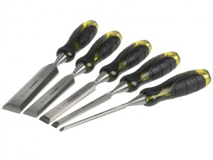 Professional Bevel Edge Chisel Set of 5: 6, 13, 19, 25 & 32mm