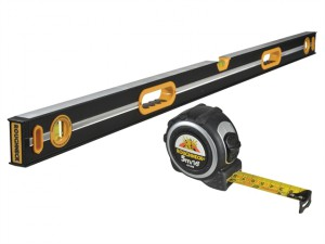 Professional Heavy-Duty Spirit Level 120cm & Tape Measure