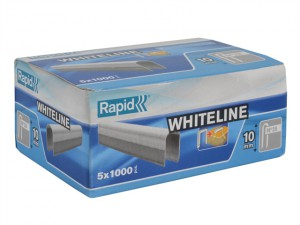 28/10 10mm DP x 5m White Staples Box 5 x 1000
