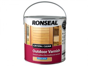 Crystal Clear Outdoor Varnish Satin 2.5 litre