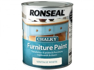 Chalky Furniture Paint Vintage White 750ml
