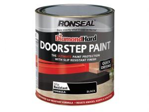 Diamond Hard Doorstep Paint Black 750ml