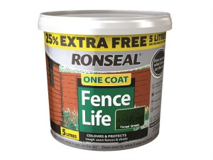 One Coat Fencelife Forest Green 4 Litre + 25%