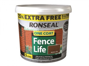 One Coat Fencelife Medium Oak 4 Litre + 25%