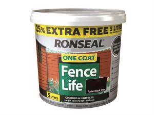 One Coat Fencelife Black Oak 4 Litre + 25%