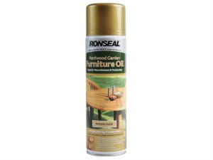 Hardwood Garden Furniture Oil Natural Clear Aerosol 500ml