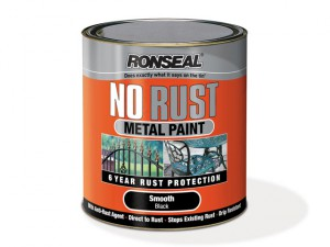 No Rust Metal Paint Smooth Black 250ml