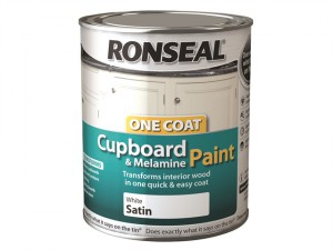 One Coat Cupboard & Melamine Paint, White 750ml