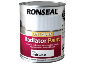 One Coat Radiator Paint Satin White 750ml