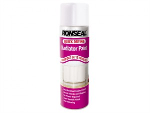 One Coat Radiator Spray Paint, Satin White 400ml