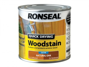 Woodstain Quick Dry Satin Natural Oak 250ml