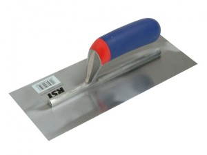 Plasterers Finishing Trowel Banana Soft Touch Handle 11in x 4.1/2in