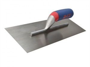 Plasterer's Finishing Trowel Carbon Steel Soft Touch Handle 16 x 4.1/2in
