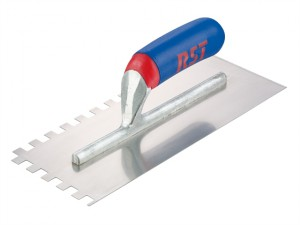 Notched Trowel Square 6 x 6mm Soft Touch Handle 11in x 4.1/2in