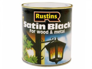Satin Black Paint Quick Drying 1 Litre