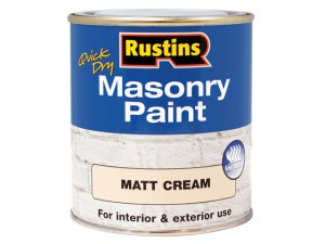 Quick Dry Masonry Paint Cream 500ml