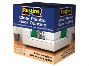 Clear Plastic Floor Coating Kit Satin 1 Litre