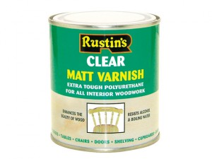 Polyurethane Varnish Matt Clear 500ml