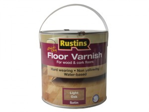 Quick Dry Coloured Floor Varnish Light Oak 2.5 Litre