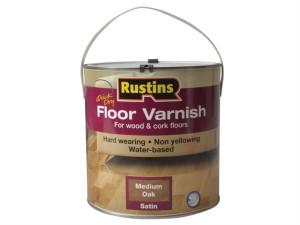 Quick Dry Coloured Floor Varnish Medium Oak 2.5 Litre