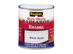 Quick Dry Radiator Enamel Paint Gloss White 500ml