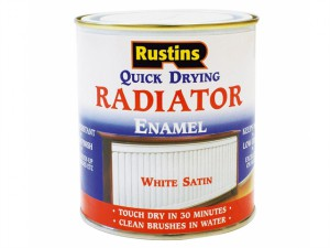 Quick Dry Radiator Enamel Paint, Satin White 250ml